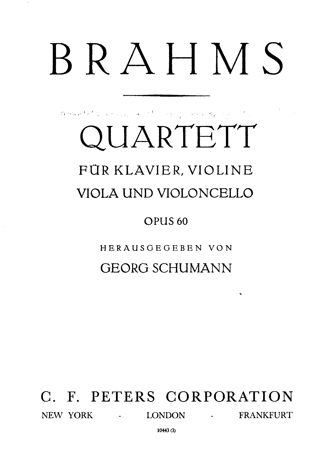 BRAHMS FRONTESPIZIO QUARTETTO